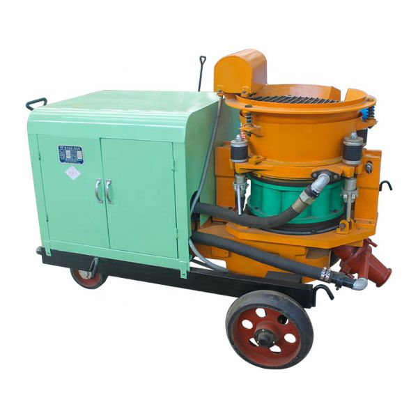 wet and dry shotcrete machine